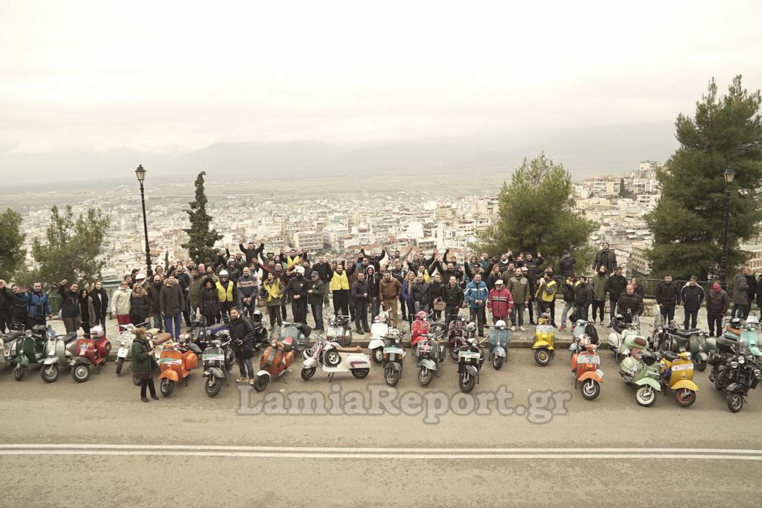 Λαμία: Πλημμύρισε η πόλη από βέσπες... [photos] - Φωτογραφία 11
