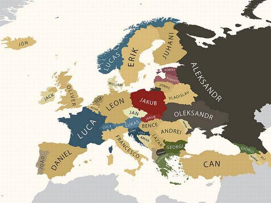 Αυτά είναι τα πιο δημοφιλή ονόματα στην Ευρώπη - Φωτογραφία 1