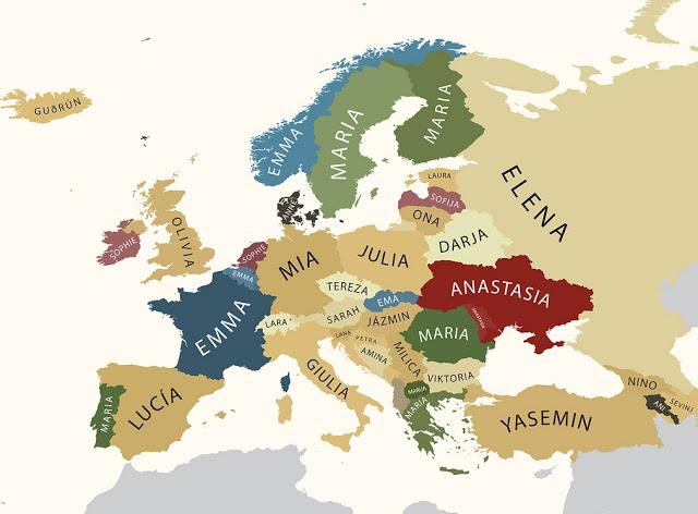 Αυτά είναι τα πιο δημοφιλή ονόματα στην Ευρώπη - Φωτογραφία 2
