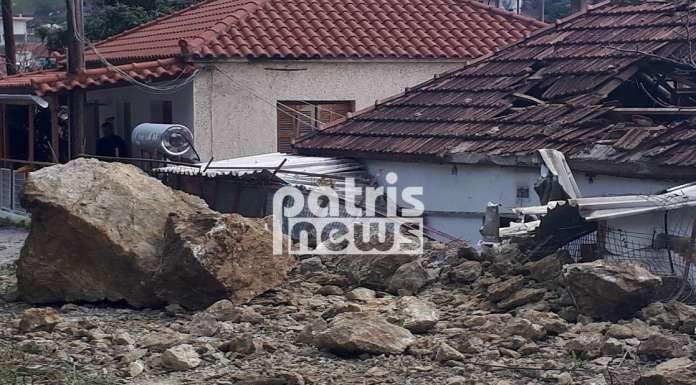 Ηλεία: Σοβαρές κατολισθήσεις από την κακοκαιρία στο Λέπρεο – Ολόκληροι βράχοι αποκολλήθηκαν και κατέστρεψαν σπίτι (ΦΩΤΟ) - Φωτογραφία 2