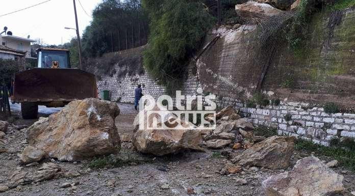 Ηλεία: Σοβαρές κατολισθήσεις από την κακοκαιρία στο Λέπρεο – Ολόκληροι βράχοι αποκολλήθηκαν και κατέστρεψαν σπίτι (ΦΩΤΟ) - Φωτογραφία 4