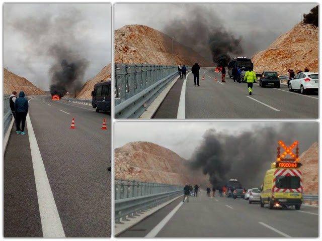 Ιόνια Οδός: Απίστευτες εικόνες από φωτιά σε Ι.Χ. - Φωτογραφία 2