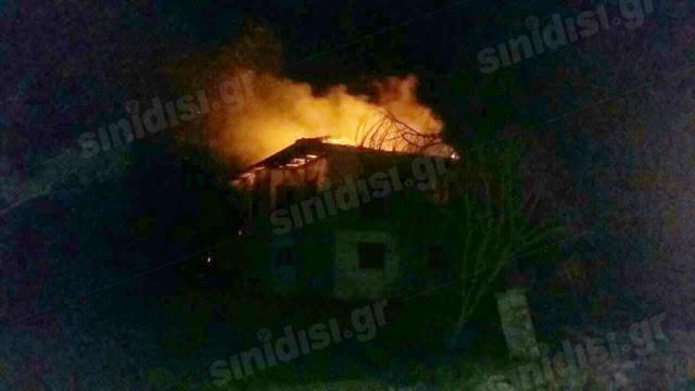 Βίντεο από το φλεγόμενο σπίτι στην Πλαγιά Βόνιτσας! - Φωτογραφία 2