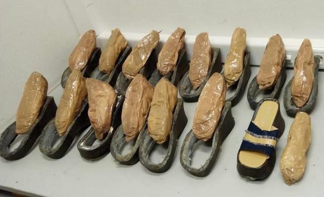 Σε σόλες παπουτσιών έκρυψε την ηρωίνη 34χρονη - Φωτογραφία 1