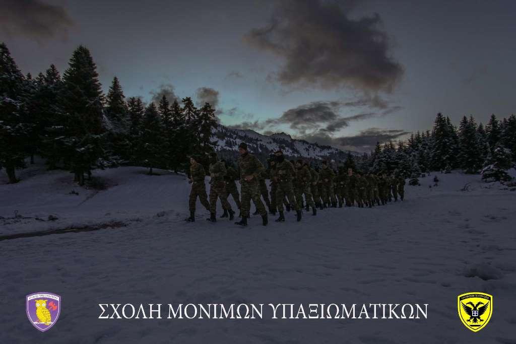 Σχολή Μονίμων Υπαξιωματικών: Εντυπωσιακές εικόνες απο την χειμερινή εκπαίδευση στα Τρίκαλα - Φωτογραφία 10