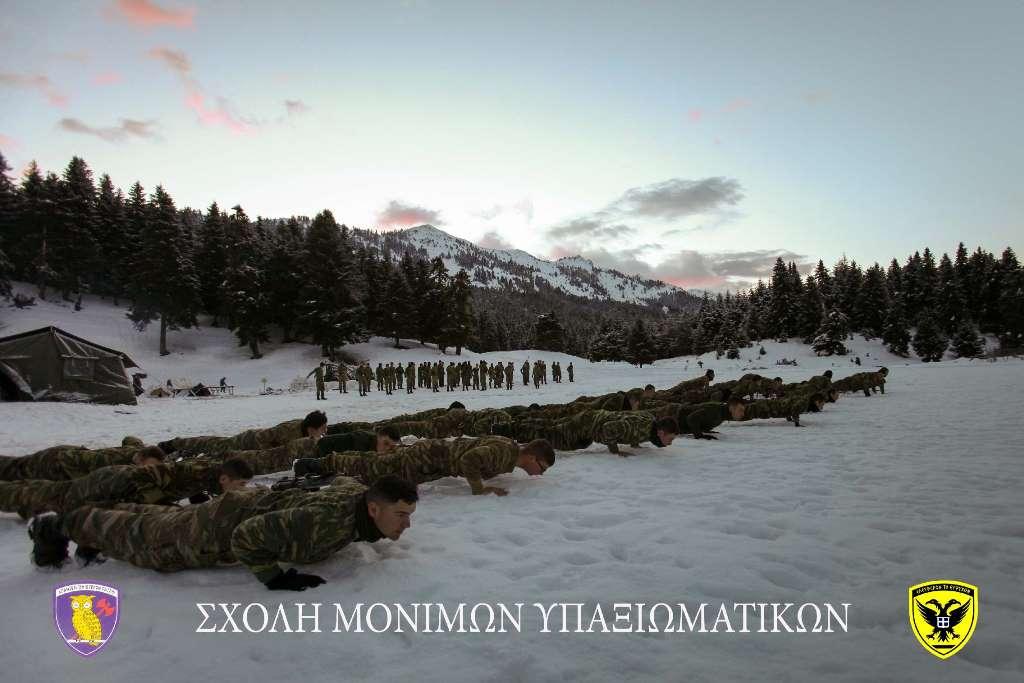 Σχολή Μονίμων Υπαξιωματικών: Εντυπωσιακές εικόνες απο την χειμερινή εκπαίδευση στα Τρίκαλα - Φωτογραφία 12