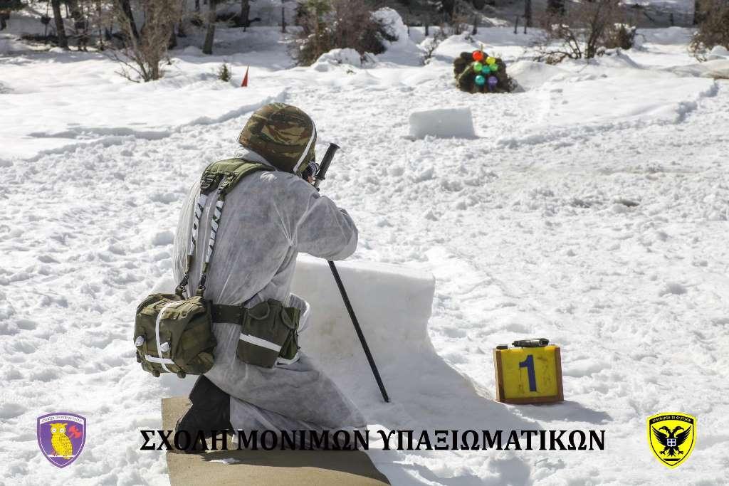 Σχολή Μονίμων Υπαξιωματικών: Εντυπωσιακές εικόνες απο την χειμερινή εκπαίδευση στα Τρίκαλα - Φωτογραφία 13