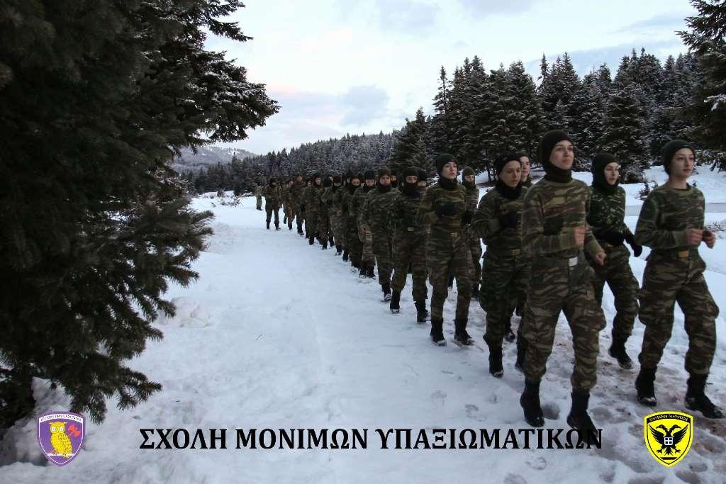 Σχολή Μονίμων Υπαξιωματικών: Εντυπωσιακές εικόνες απο την χειμερινή εκπαίδευση στα Τρίκαλα - Φωτογραφία 14