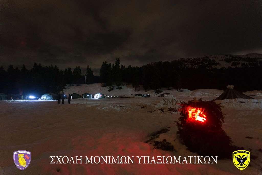 Σχολή Μονίμων Υπαξιωματικών: Εντυπωσιακές εικόνες απο την χειμερινή εκπαίδευση στα Τρίκαλα - Φωτογραφία 17