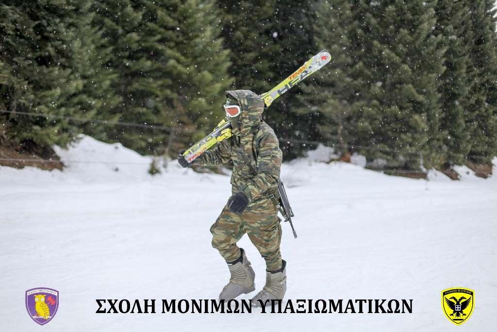 Σχολή Μονίμων Υπαξιωματικών: Εντυπωσιακές εικόνες απο την χειμερινή εκπαίδευση στα Τρίκαλα - Φωτογραφία 18