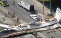 ΗΠΑ: Κατέρρευσε πεζογέφυρα στο Πανεπιστήμιο του Μαϊάμι - Φωτογραφία 2