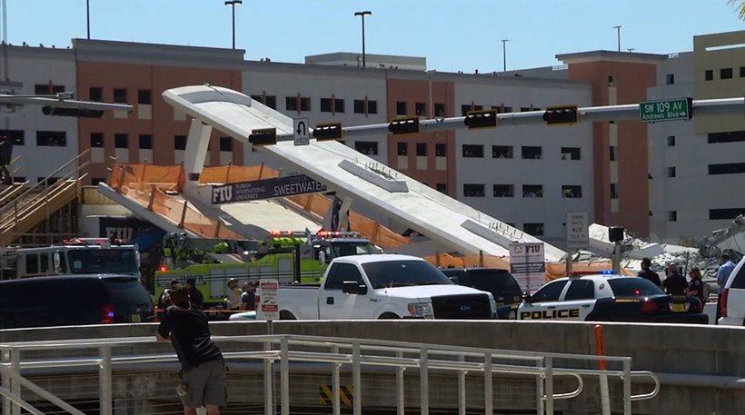 Μαϊάμι: Όλοι γνώριζαν για τη ρωγμή στην πεζογέφυρα αλλά κανείς δεν έκανε τίποτα! - Φωτογραφία 1