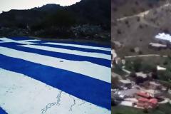Να ζήσετε λεβέντες μας! Κρητικόπουλα ζωγράφισαν τη μεγαλύτερη Ελληνική σημαία στα Σφακιά