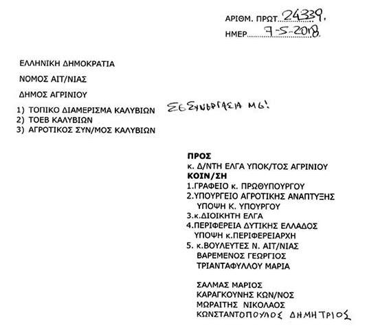 Το ΚΚΕ Κατέθεσε ΑΝΑΦΟΡΑ σχετικά με το φαινόμενο της ακαρπίας στα εσπεριδοειδή της περιοχής Καλυβίων - Φωτογραφία 3