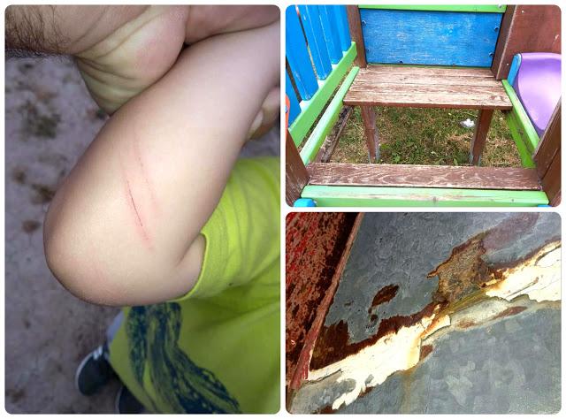 Θέματα ασφάλειας στην παιδική χαρά του οικισμού Παναγούλας στον ΜΥΤΙΚΑ (ΦΩΤΟ) - Φωτογραφία 1