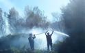 Πισσώνας: Μαίνεται η πυρκαγιά, αλλά δεν απειλεί σπίτια - Δείτε Εικόνες!