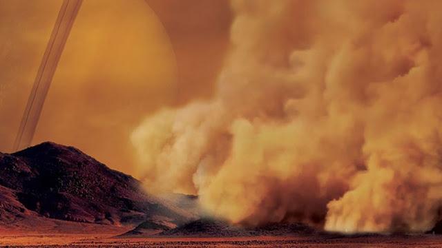 Γιγάντιες αμμοθύελλες στον Τιτάνα του Κρόνου - Φωτογραφία 1