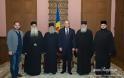 11124 - Αγιοπαυλίτες Πατέρες στον Πρόεδρο της Μολδαβίας Ίγκορ Ντοντόν