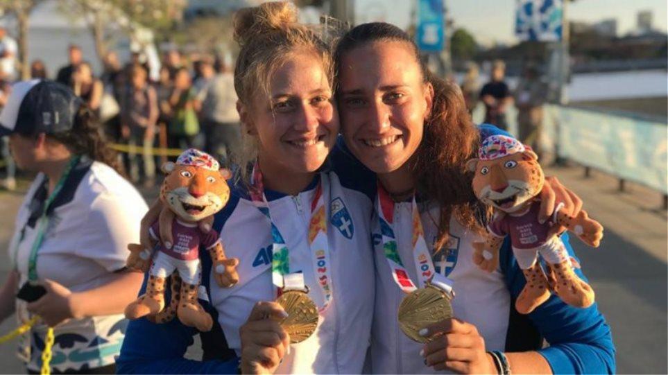 «Χρυσά» τα κορίτσια στη δίκωπο άνευ της κωπηλασίας, στους Ολυμπιακούς Αγώνες Νέων! - Φωτογραφία 1