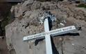 Επίθεση κατά της Ορθοδοξίας: Αλλόθρησκοι γκρέμισαν σταυρό στην Λέσβο – Ενοχλούσε ΜΚΟ και μετανάστες!
