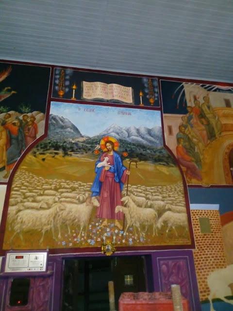 Αγιογραφείται ο Ι.Ν. Αγίου Ιεροθέου στην Κομπωτή Ξηρομέρου δια χειρός Βασίλη Παλούκη: Ένα σπουδαίο έργο σε εξέλιξη! - Φωτογραφία 14