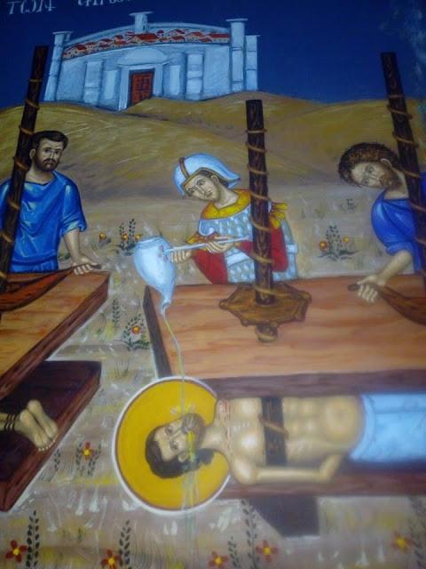 Αγιογραφείται ο Ι.Ν. Αγίου Ιεροθέου στην Κομπωτή Ξηρομέρου δια χειρός Βασίλη Παλούκη: Ένα σπουδαίο έργο σε εξέλιξη! - Φωτογραφία 19