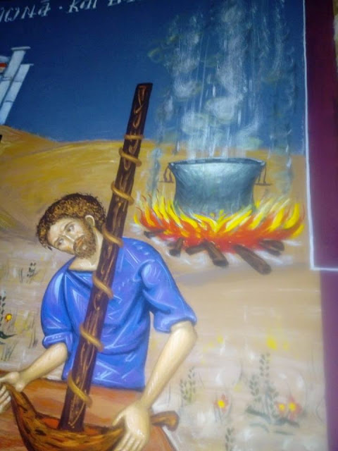 Αγιογραφείται ο Ι.Ν. Αγίου Ιεροθέου στην Κομπωτή Ξηρομέρου δια χειρός Βασίλη Παλούκη: Ένα σπουδαίο έργο σε εξέλιξη! - Φωτογραφία 20