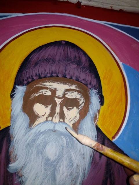 Αγιογραφείται ο Ι.Ν. Αγίου Ιεροθέου στην Κομπωτή Ξηρομέρου δια χειρός Βασίλη Παλούκη: Ένα σπουδαίο έργο σε εξέλιξη! - Φωτογραφία 22