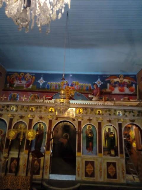 Αγιογραφείται ο Ι.Ν. Αγίου Ιεροθέου στην Κομπωτή Ξηρομέρου δια χειρός Βασίλη Παλούκη: Ένα σπουδαίο έργο σε εξέλιξη! - Φωτογραφία 24
