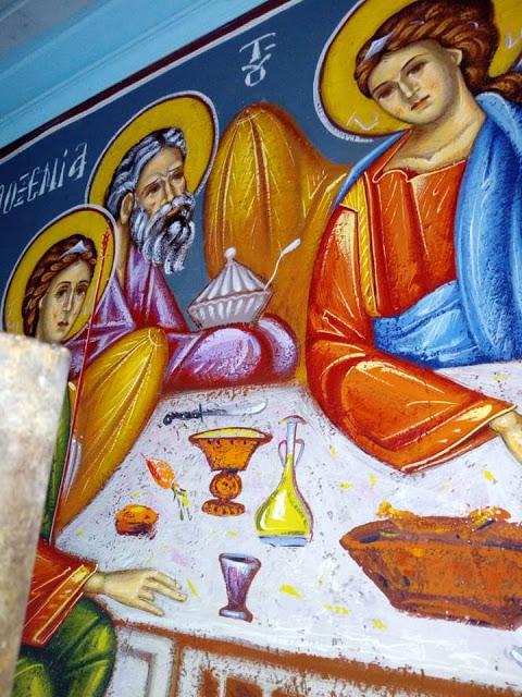 Αγιογραφείται ο Ι.Ν. Αγίου Ιεροθέου στην Κομπωτή Ξηρομέρου δια χειρός Βασίλη Παλούκη: Ένα σπουδαίο έργο σε εξέλιξη! - Φωτογραφία 29