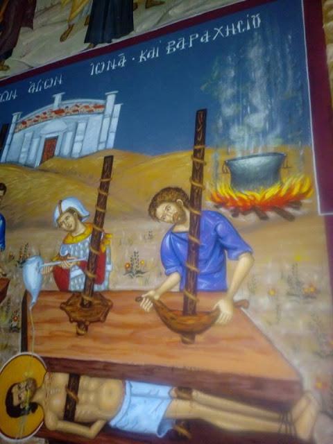 Αγιογραφείται ο Ι.Ν. Αγίου Ιεροθέου στην Κομπωτή Ξηρομέρου δια χειρός Βασίλη Παλούκη: Ένα σπουδαίο έργο σε εξέλιξη! - Φωτογραφία 7