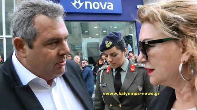 Ο Υπουργός Πάνος Καμμένος στην κάμερα του kalymnos-news.gr για αναδρομικά ενστόλων και για ΣΟΑ - Φωτογραφία 1