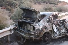 Εγνατία Οδό: 3 άνθρωποι κάηκαν ζωντανοί σε τροχαίο - 3 τραυματίες