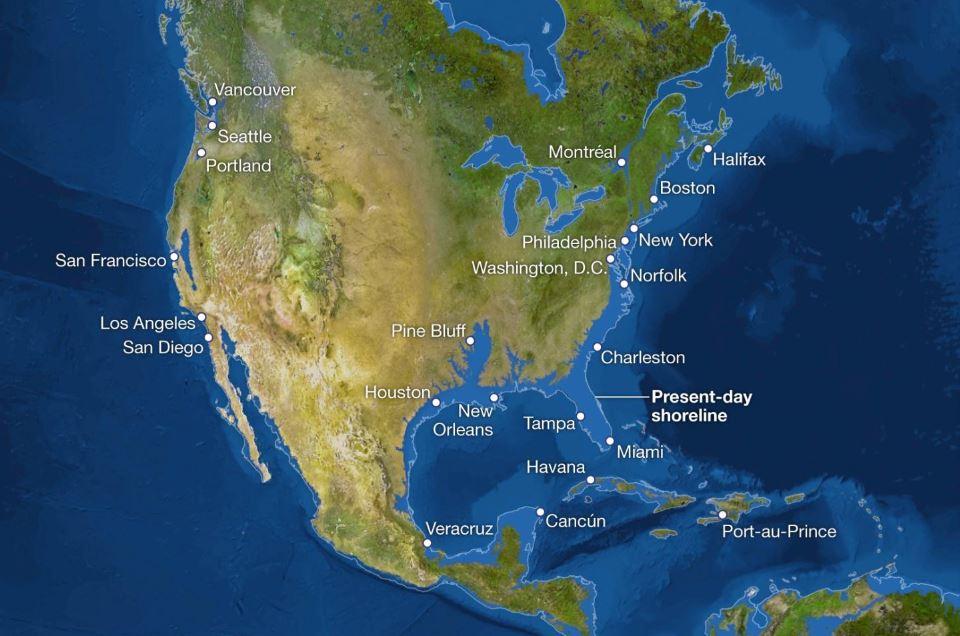 National Geographic: Πώς θα ήταν ο κόσμος αν έλιωναν όλοι οι πάγοι – Τι θα γινόταν στην Ελλάδα (χάρτες) - Φωτογραφία 2