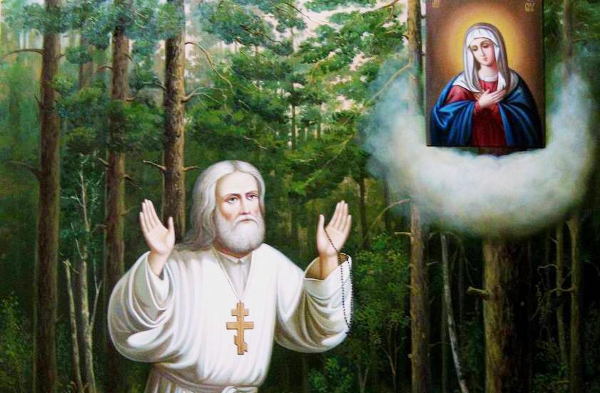 Ο Άγιος Σεραφείμ Σάρωφ άφησε εντολή να καίη πάντοτε κερί ενώπιον της  εικόνος του Σωτήρος και ακοίμητη κανδήλα ενώπιον της εικόνος της Θεοτόκου    NewsNowgr.com