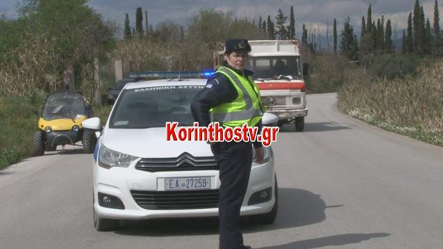 Εκτροπή και ανατροπή ΙΧ – Επιχείρηση απεγκλωβισμού οδηγού του Ι.Χ. στην Π.Ε.Ο Κορίνθου – Εξαμιλίων (BINTEO) - Φωτογραφία 3