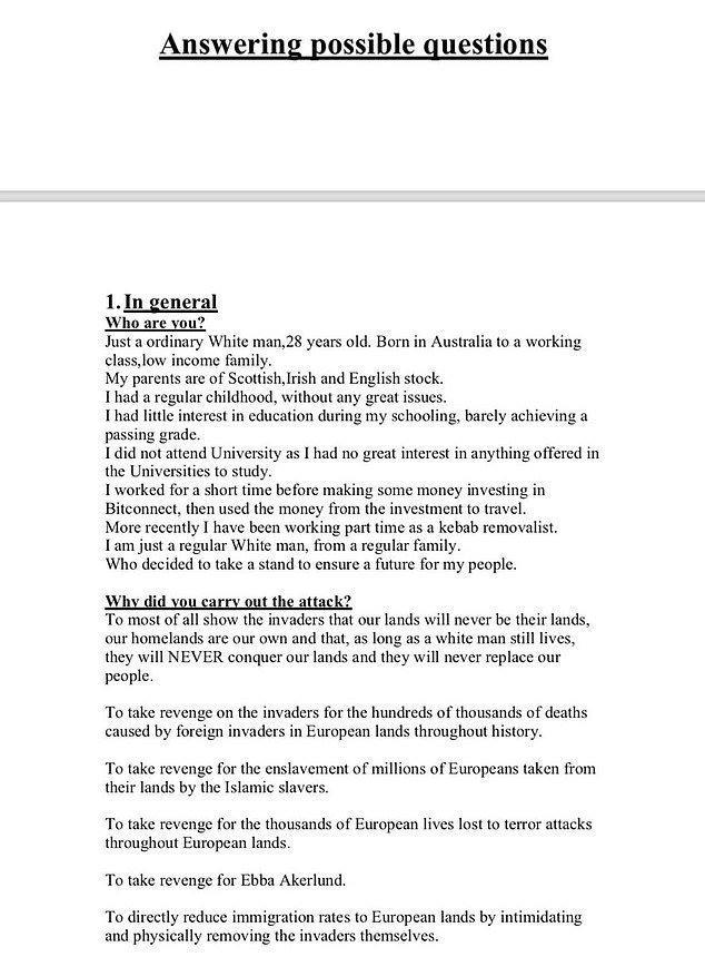 Νέα Ζηλανδία: Περιμένω το Νόμπελ Ειρήνης μόλις αποφυλακιστώ, σοκάρει ο τρομοκράτης - Φωτογραφία 4