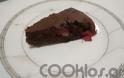 Νηστίσιμη σοκολατόπιτα με φράουλες
