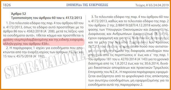 Αναδρομικά Ειδικών Μισθολογίων: Δημοσιεύθηκε σε ΦΕΚ η απαλλαγή από ειδική εισφορά αλληλεγγύης (ΦΕΚ) - Φωτογραφία 2