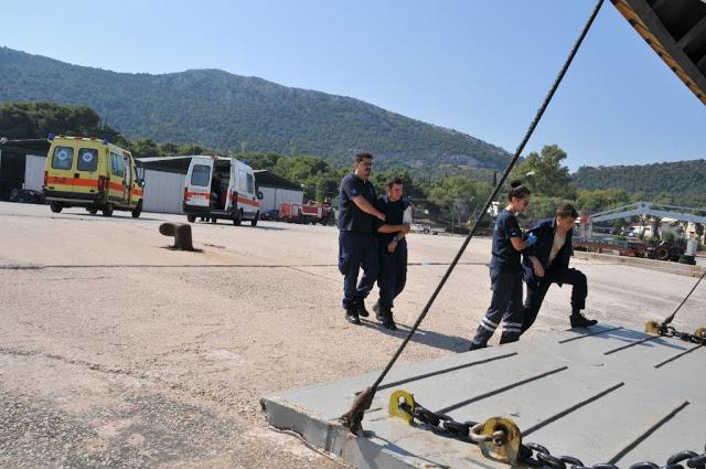 Άσκηση Μείζονος Ατυχήματος στο Ναυτικό Οχυρό Σκαραμαγκά - Φωτογραφία 4