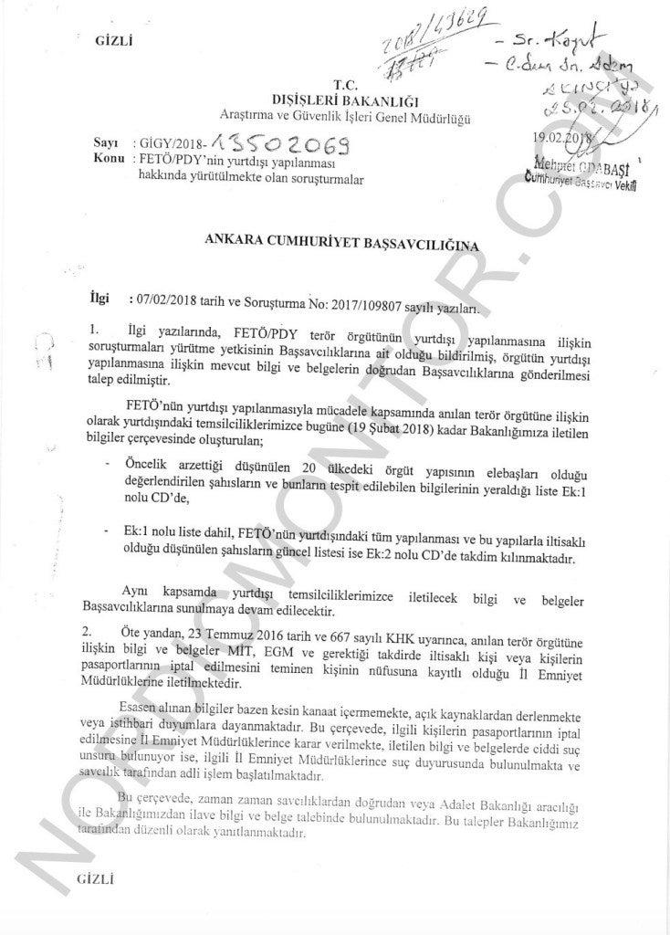 Διαρροή-«βόμβα»: Σε κέντρα κατασκοπείας έχουν μετατραπεί τουρκικές πρεσβείες & προξενεία σε 20 χώρες – Δείτε τα έγγραφα - Φωτογραφία 2