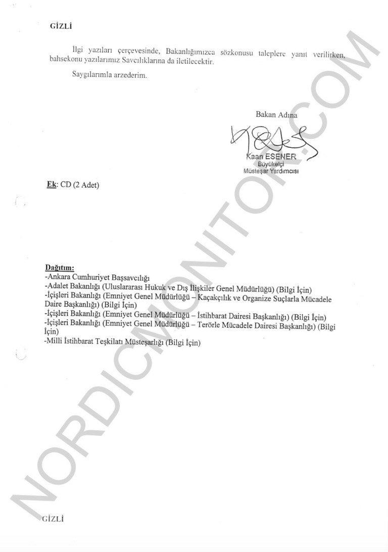 Διαρροή-«βόμβα»: Σε κέντρα κατασκοπείας έχουν μετατραπεί τουρκικές πρεσβείες & προξενεία σε 20 χώρες – Δείτε τα έγγραφα - Φωτογραφία 3