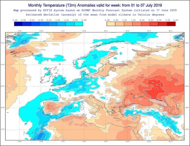 Πρωτοφανής καύσωνας γονατίζει την Ευρώπη: Ποιες περιοχές θα επηρεαστούν, τι θερμοκρασίες θα επικρατήσουν στην Ελλάδα - Φωτογραφία 4
