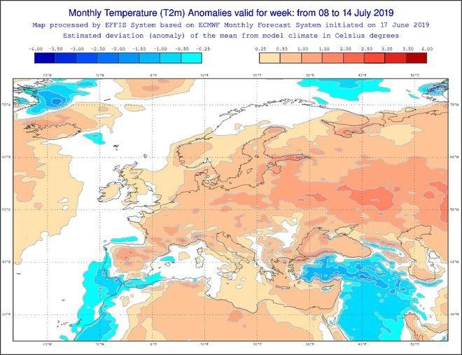 Πρωτοφανής καύσωνας γονατίζει την Ευρώπη: Ποιες περιοχές θα επηρεαστούν, τι θερμοκρασίες θα επικρατήσουν στην Ελλάδα - Φωτογραφία 5