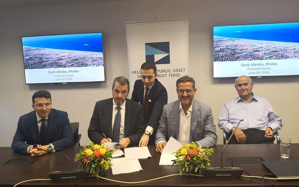 Ολοκληρώθηκε η συμφωνία πώλησης του Νότιου Αφάντου στην Τ.Ν. Aegean Sun Investment Ltd - Φωτογραφία 1