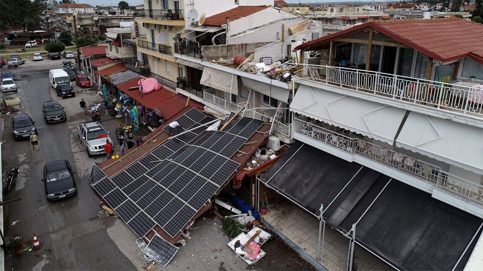 Η καταστροφή στη Χαλκιδική από ψηλά - Φωτογραφία 1