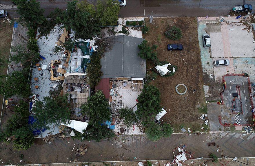 Η καταστροφή στη Χαλκιδική από ψηλά - Φωτογραφία 14