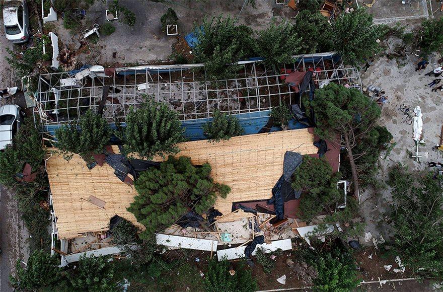 Η καταστροφή στη Χαλκιδική από ψηλά - Φωτογραφία 16