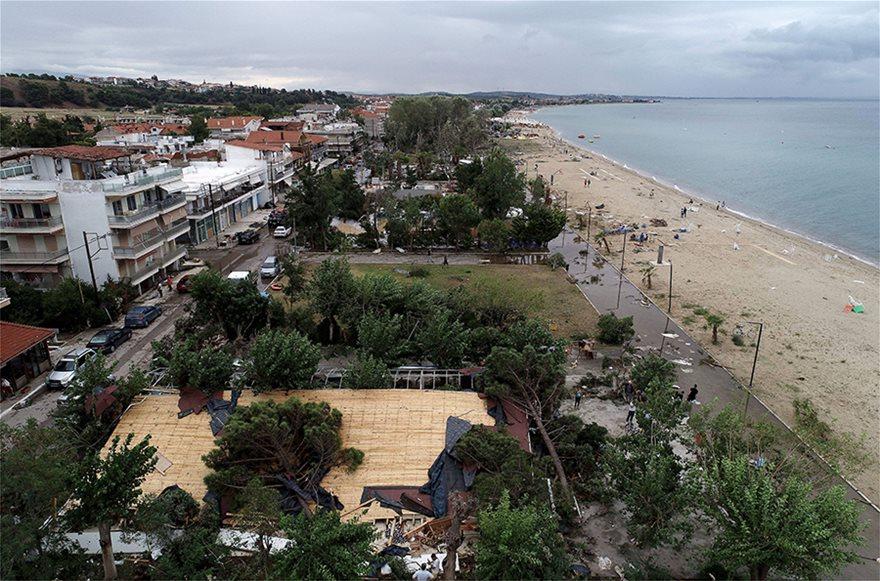 Η καταστροφή στη Χαλκιδική από ψηλά - Φωτογραφία 17
