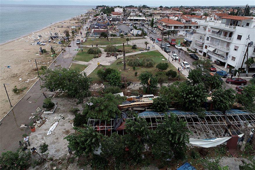 Η καταστροφή στη Χαλκιδική από ψηλά - Φωτογραφία 18